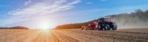 sunset of Ontario farmland