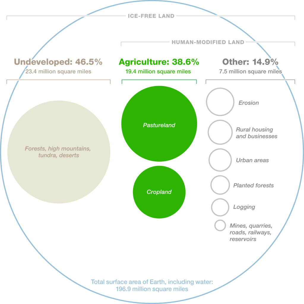 Looking at the big picture inspires streamlining our collective efforts to use land more efficiently for a global increase in crop yields.