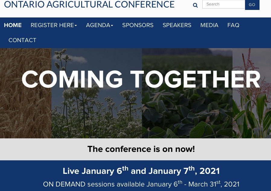 Ontario Ag Conference Home page image